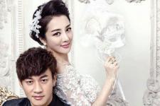 何润东和李依晓结婚照 自然、经典的妆容最见功底