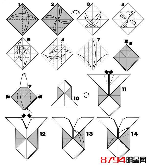 带翅膀的心形立体折纸手工教程图解[第2页]