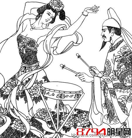高贵妃唱戏动漫手绘