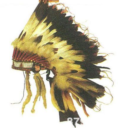 印第安人的羽毛头饰