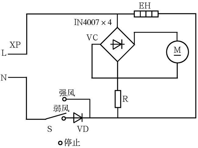 2, 电吹风电路图详解   3,电热梳电路   4,全自动洗衣机电路图   5