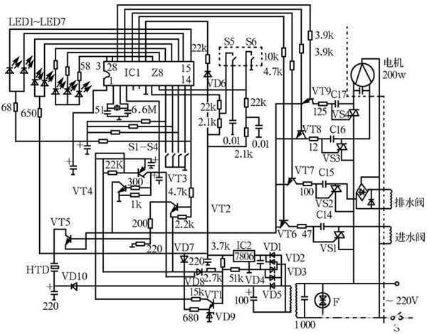 全自动洗衣机电路图[第4页]