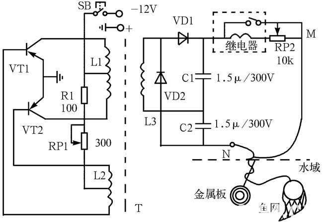 图2-38 电子捕鱼器电路