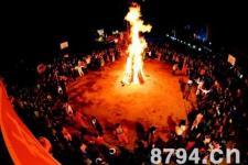 延安地区过完了元宵节(灯节) 正月十六跳篝火