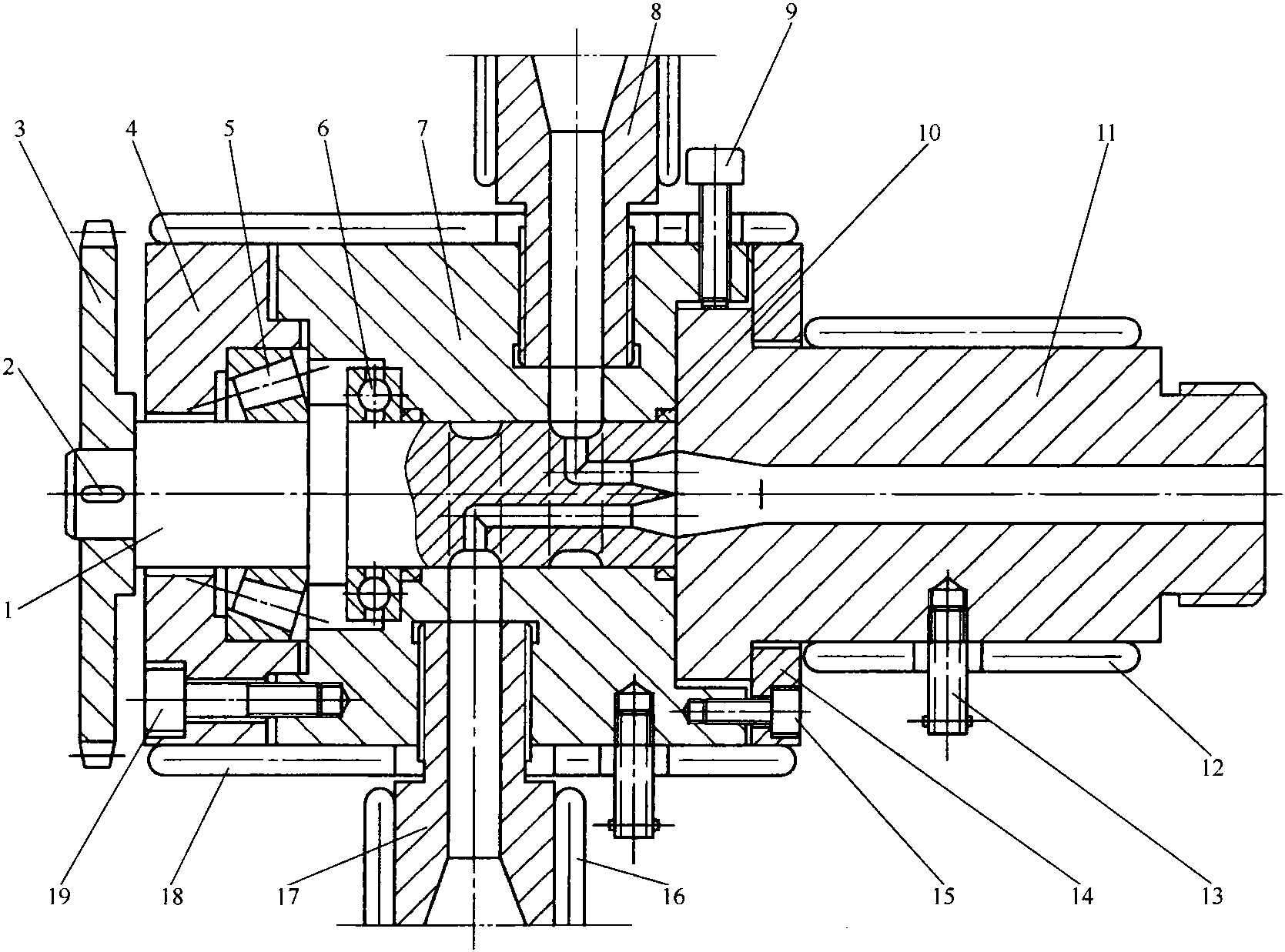 双色棒材机头结构图