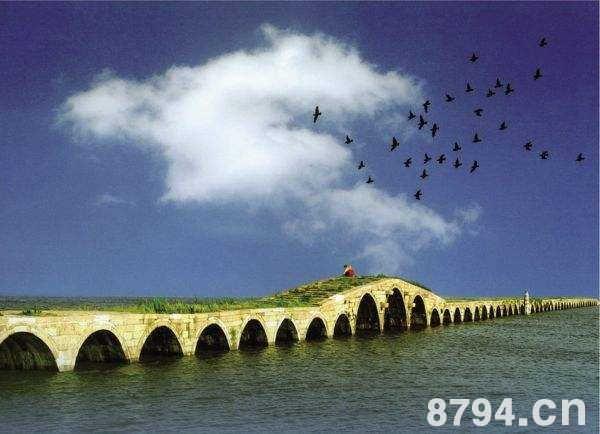 苏州宝带桥资料故事:处于运河和玳玳河的交汇处总长316米