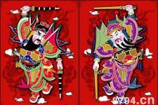 门神:由神荼和郁垒、秦叔宝和尉迟敬德以及钟馗这五个形象所共享的