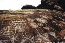 将军崖岩画:原始岩画是人类最早的造型艺术之一