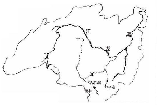 黑龙江水系图