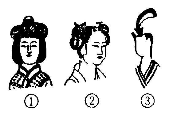 汉族服饰黑白简笔画