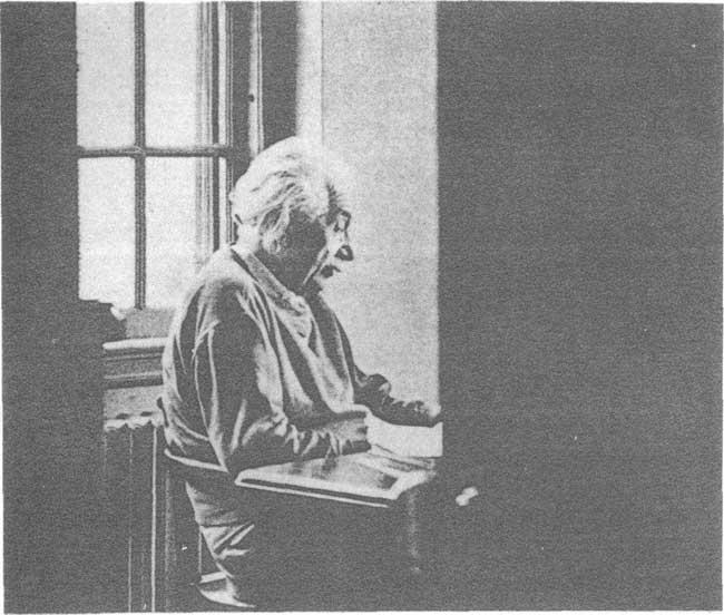 爱因斯坦在从事科学研究