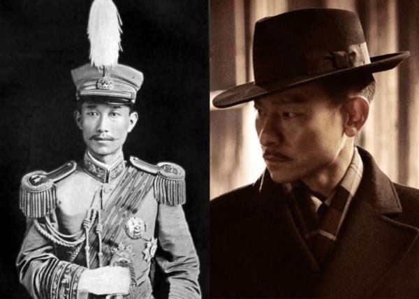 刘德华影视作品饰演蔡锷将军,确实还有几分相似