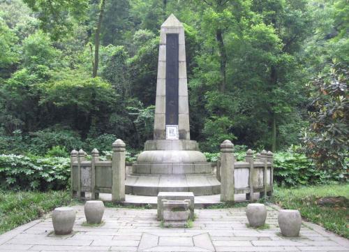 长沙岳麓山上蔡锷将军的墓