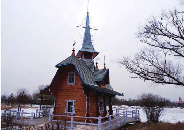 独具欧式建筑风格的小木屋