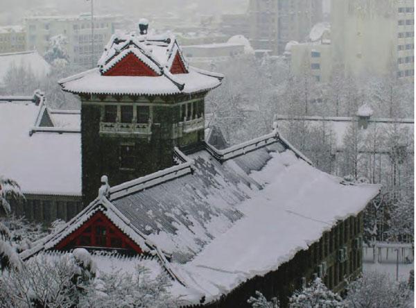 一座座历经风雨的古建筑散落在南京城内,大雪过后,更显庄严、沧桑。