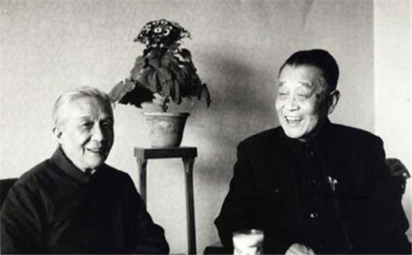 晚年的杜聿明与妻子曹秀清合照