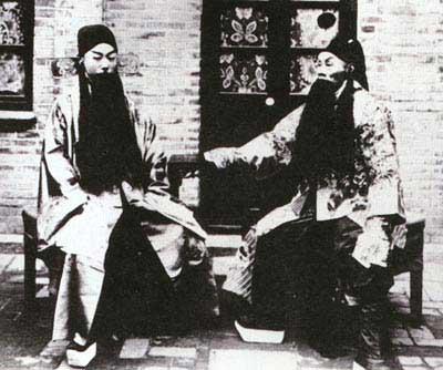《四郎探母》谭鑫培(右)饰杨延辉 祝砚溪饰杨延昭