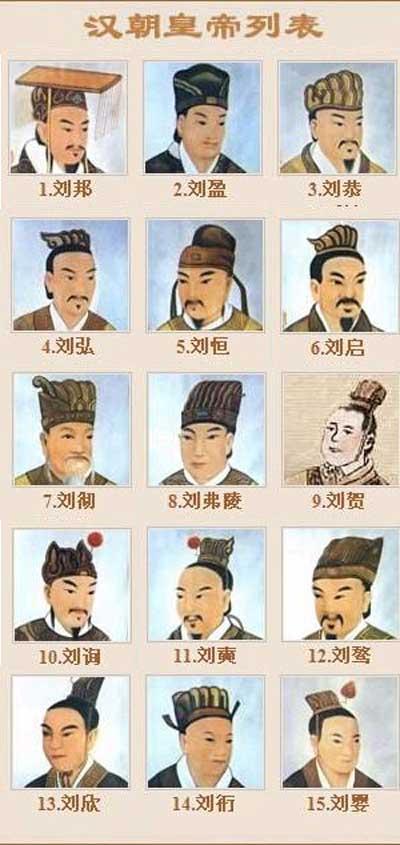 西汉皇帝帝王大全一览表