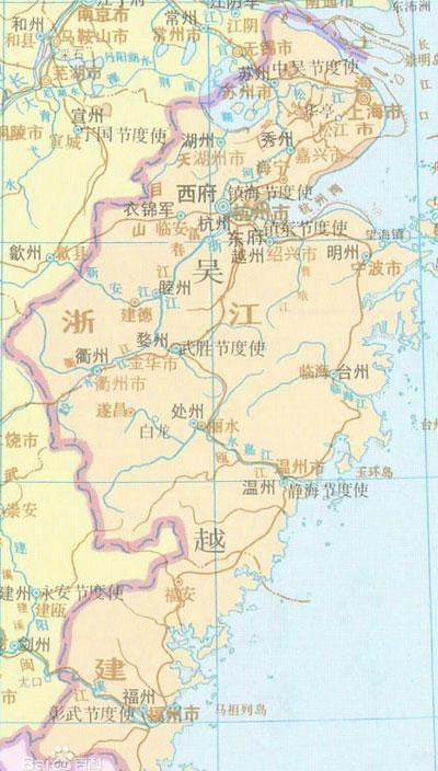 吴越国皇帝列表 吴越国是现在的哪里 吴越国历史简介怎么灭亡的