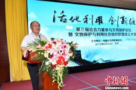 中国文物保护基金会理事长励小捷发表主旨演讲 钟欣 摄